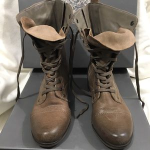 Taupe brown flat Vince Camuto boots
